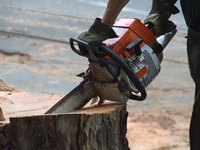 Keep your chain saw cutting properly by using a bar-mount sharpener to sharpen your chain.