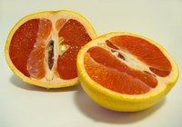 Red grapefruit is helpful in lowering high blood pressure.