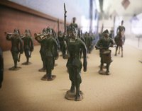 Toy army soldiers were made out of painted lead before they were made out of plastic