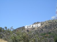 The Hollywood sign is a famous Los Angeles attraction.