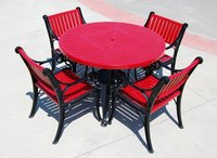 Recover your outdoor furniture to change your patio's look.