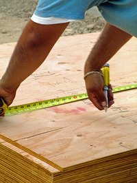 Plywood is a common subflooring material.