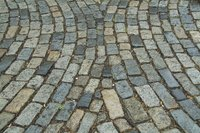 A cobblestone patio.