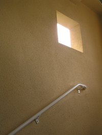 Stair handrails provide a stable bar for balance going up and down stairs.