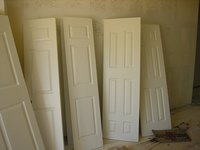 Most interior doors have between two and four panels.