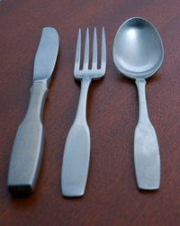 Knives, forks and spoons are an essential part of kitchenware utensils.