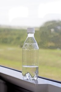 Clean water bottles with vinegar.