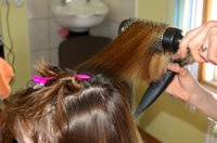 Cosmetologists cut, color, and style hair.