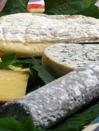 The color in blue cheese is provided by special, edible mold.