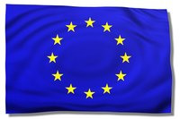 The Flag of the European Union, of which the Euro is the official currency.