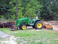 John Deere compact utility tractor with front-end loader