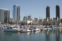 San Diego is an urban harbor and popular tourist destination.