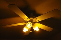 Out-of-balance ceiling fans can wobble.
