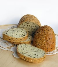 Inviting bread is well-formed thanks to gluten with a nice texture and hearty crust.