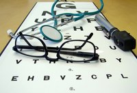 An optometrist may prescribe medicines to treat specific eye problems.