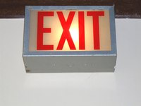 Lighted exit signs are part of the emergency lighting requirements.
