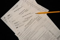 A W-9 tax form is held by your employer