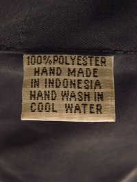 Washing instructions for polyester clothing
