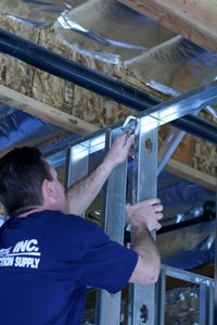 steel studs are often used in residential construction - Metal Stud Framing Tools