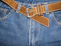 YKK zippers are used on jeans and other garments.