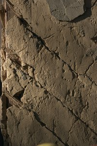 Horse-hair plaster cracks with age.