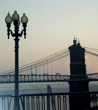 Cincinnati Bridge, one of the landmarks of the state of Ohio
