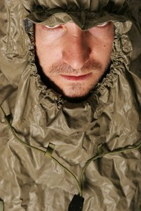 Waterproof fabrics offer the best protection in heavy rainfall.