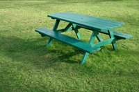 Sealing your new picnic table protects you from chemicals in the wood.