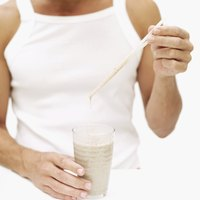 Healthy man with a shake