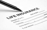 A life insurance application form.
