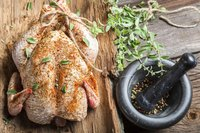Add herbs and spices to the turkey just before grilling.