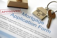 Close-up of approved mortgage application form