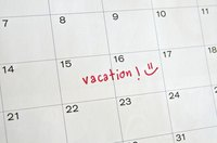 """Vacation"" written on calendar."