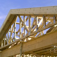 During construction, open roof trusses can be measured to the ground.