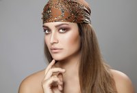 A printed silk headscarf is a timeless accessory for the modern wardrobe.