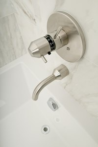 Thermostatic shower valves use a diverter that is separate from the valve itself.