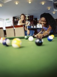 A pool hall can draw in people from all walks of life.