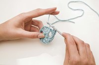 The double-crochet technique is easy to master and creates a thicker border than single crochet.