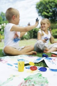 Have a T-shirt painting craft project at your next party.