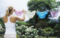 Line drying your panties will extend their lifetime.