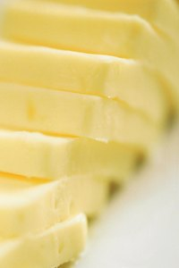 A primary staple in many households, butter is useful in baking and cooking.