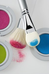 Cleaning brushes can prevent makeup build up.