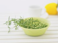 Small bowl of rosemary.