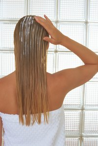A weekly deep-conditioning treatment helps keep your highlights and hair healthy.