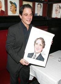 Actor Toni Danza was presented a caricature at Sardi's in New York City, 2007.