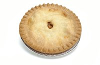 Pies premade for freezing should be baked in metal pans.