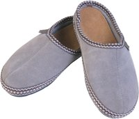 You can make a slipper sole from wool felt.