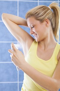 Spray on antiperspirant can provide easy and even application.