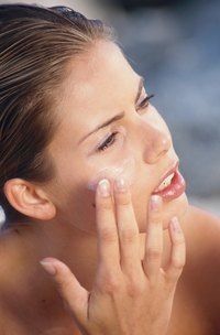 Moisturizing with sun protection helps fight off premature aging.