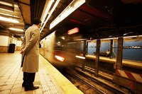 New York City conductors help subway trains run on time.